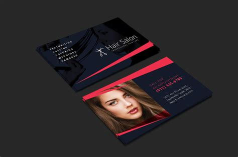 salon business card template hair salon business card template for photoshop illustrator