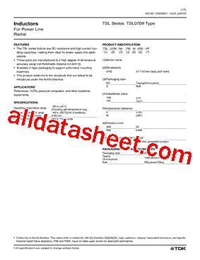 tdk inductor tsl tsl0709 データシート pdf tdk electronics