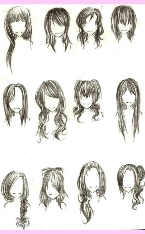 pretty hairstyles drawing cute drawing hairstyles tumblr