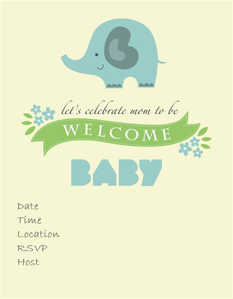free printable elephant baby shower invitations free printable baby shower invitations baby shower ideas