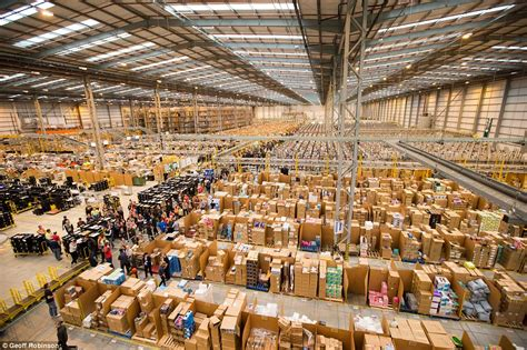 amazon warehouse amazon staff prepare for black friday daily mail online