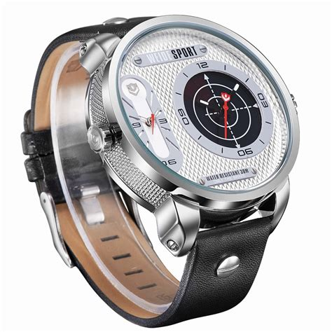 Weide Japan Quartz Miyota Leather Sports 30m Water Res weide japan quartz miyota leather sports 30m water resistance wh3409 white silver