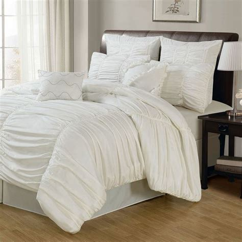 ruched bedding venetian ruched 8 piece comforter set