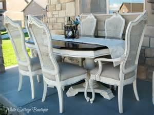 Country French Dining Room Sets chalk painting the french farmhouse chairs pewter and