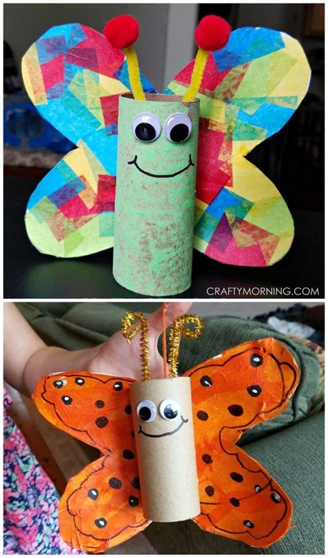 Toilet Paper Crafts - crafts for with toilet paper rolls or paper towel