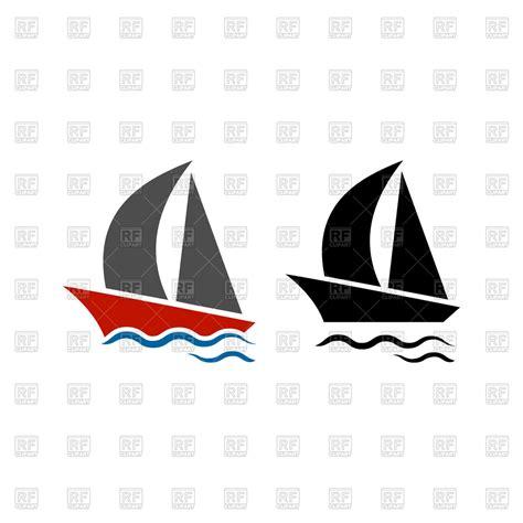 big boat icon sailing boat icon free vector clip art image 70139