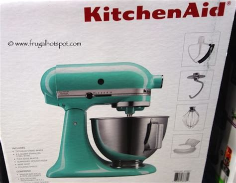 costco kitchen aid mixer costco sale kitchenaid 4 5 qt tilt stand mixer 199 99 frugal hotspot