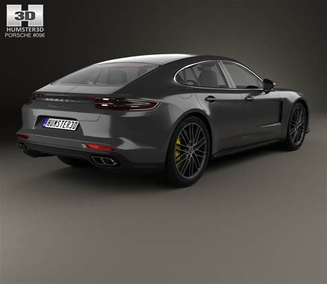 porsche sedan models porsche panamera turbo 2017 3d model humster3d