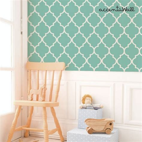 self stick wallpaper moroccan mint peel and stick fabric wallpaper