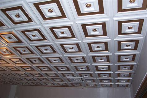 Decor Ceiling Panels by Deco Seashore Faux Tin Ceiling Tile Glue Up 24 Quot X24