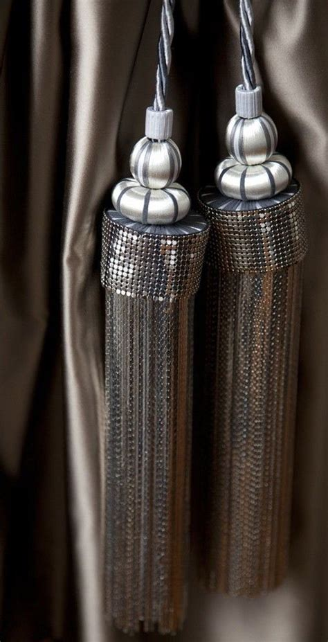 how to tie curtain tassels silver russian bling tieback by spina available through