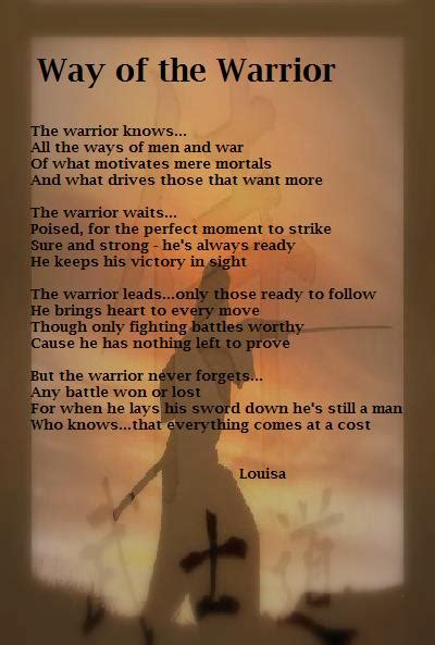 way of the warrior the philosophy of enforcement superbia books quotes poems on warriors and poem