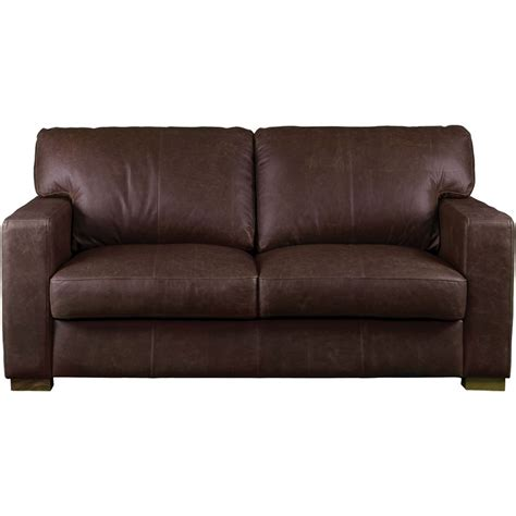 Carlisle Leather 2 5 Seater Sofa Vintage Brown