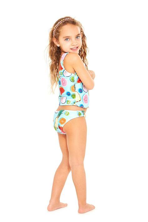 fruits little girl swimsuit kids tropical fruit sport tankini terez