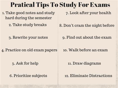 pratical tips  study  exams studentbees blog