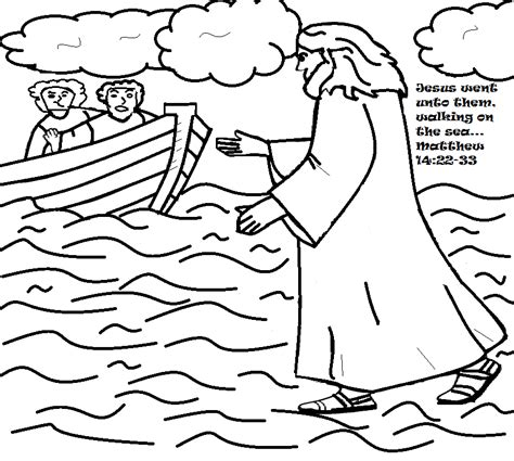 coloring pages for jesus walking on water free jesus walks on water coloring pages