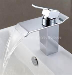 waterfall bathroom sink faucets contemporary waterfall bathroom sink faucet chrome
