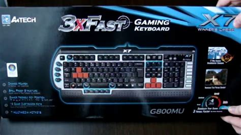 Keyboard Gaming A4tech X7 G800mu Ps2 keyboard a4tech x7 g800mu