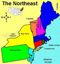 map of northeast history and culture a 2012 2013 northeast of usa
