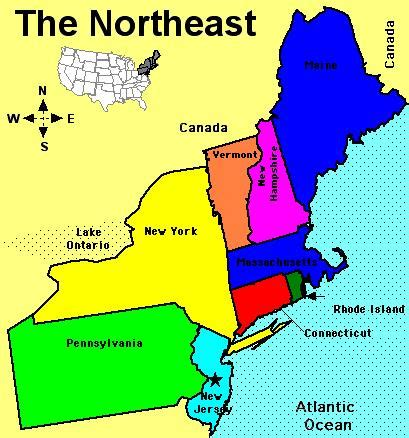 map usa northeast region history and culture a 2012 2013 northeast of usa