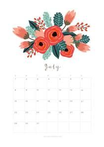 Calendar 2018 Printable Floral Printable July 2018 Calendar Monthly Planner Flower