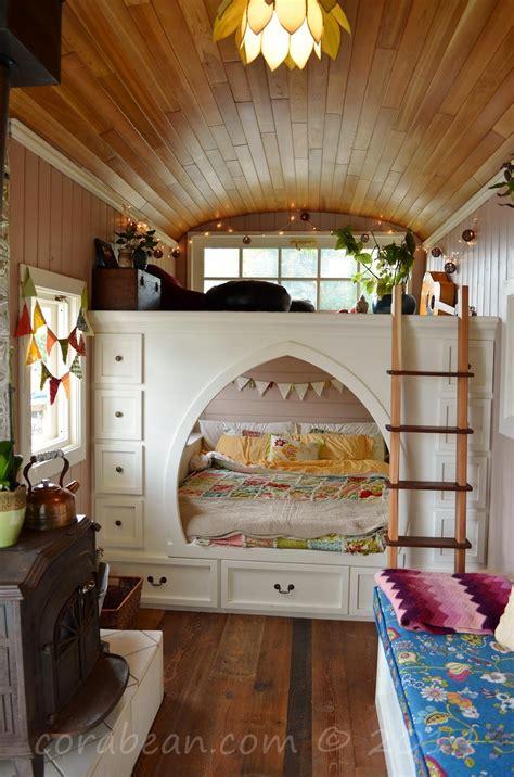 design love fest loft tour our cora bean tiny house extravaganza house bus tour