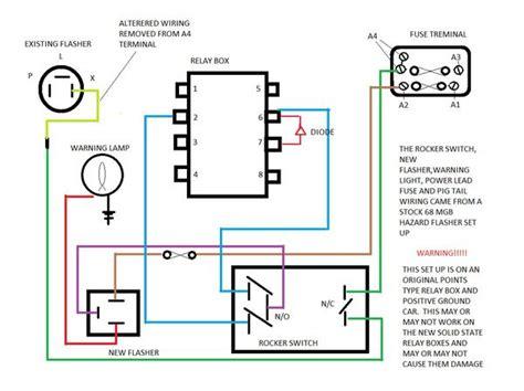 auto hazard switch wiring diagram