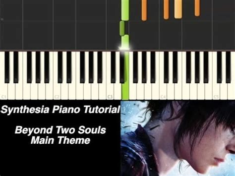 piano tutorial up theme piano tutorial beyond two souls main theme synthesia