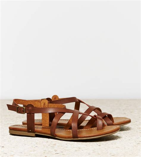 strappy brown sandals aeo strappy criss cross sandal brown american