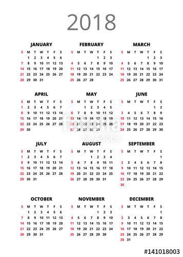 year calendar vertical book orientation vector