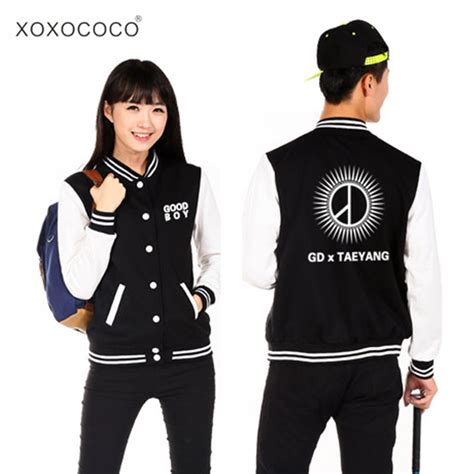 Sweater Hoodie Jaket Exo hoodie kpop bigbang bigbang baseball gd same sweatshirts boy fleece jacket