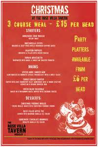 jewellery quarter restaurant and bars christmas menus