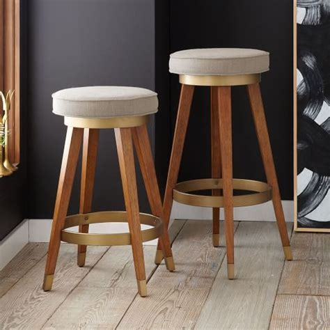 West Elm Kitchen Stools by Mid Century Swivel Bar Counter Stool West Elm