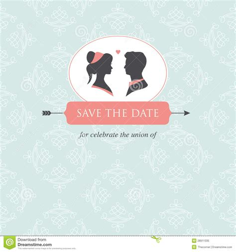 template wedding card wedding invitation card template stock illustration