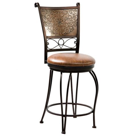 Copper Back Bar Stools by Bar Stools Bronze With Muted Copper Sted Back Stool