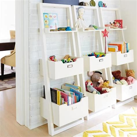 childrens desk and bookshelves sloane leaning bookcase white rec