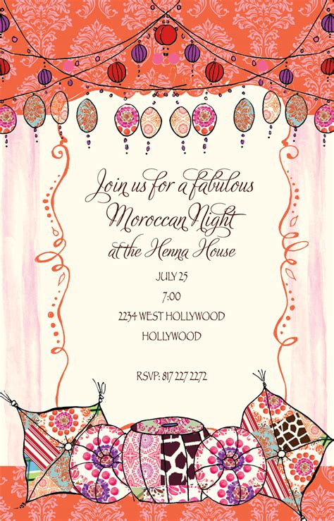 Quick View Bik Wch 31 Quot Keep On Moroccan You Invitation Quot Moroccan Invitations Templates