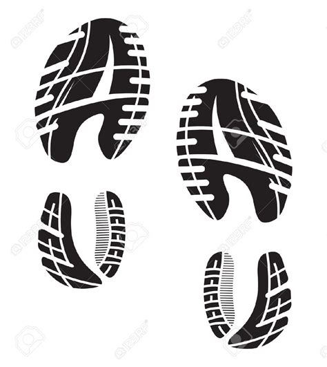 running shoe prints imprint clipart clipground