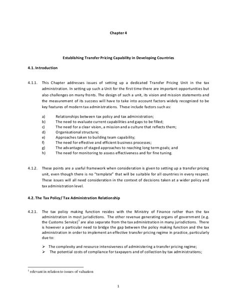 transfer pricing agreement template transfer pricing practical manual for developing