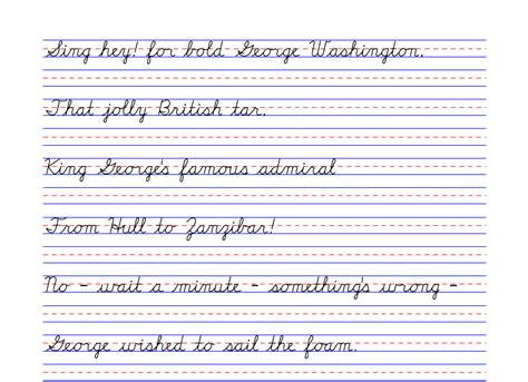 handwriting templates for grade 4th grade handwriting boxfirepress