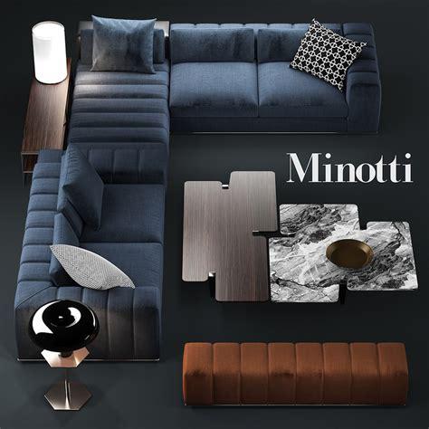 Minotti Home Design Products by 3d Sofa Minotti Freeman Model