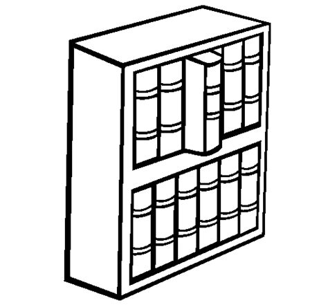 coloring pages bookshelves bookcase coloring pages coloring pages