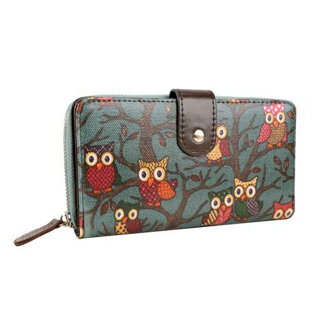 Wallet Bag Owl by Owl Print Designer Oilcloth Shoulder Bag Tote