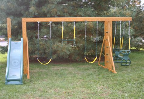 swing and slide monkey bars rent to own storage buildings sheds barns lawn
