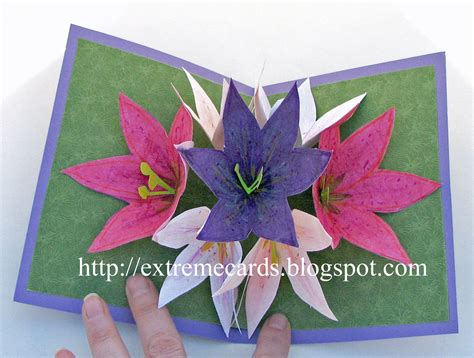 how to make card flowers cards and papercrafting seven flower pop up card