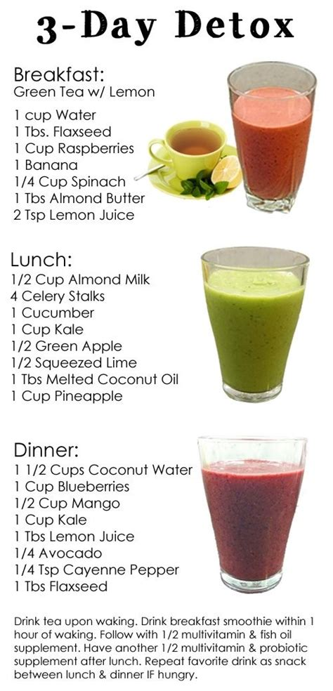 Detox 2 Days A Week by 3 Day Detox Cleanse Yum