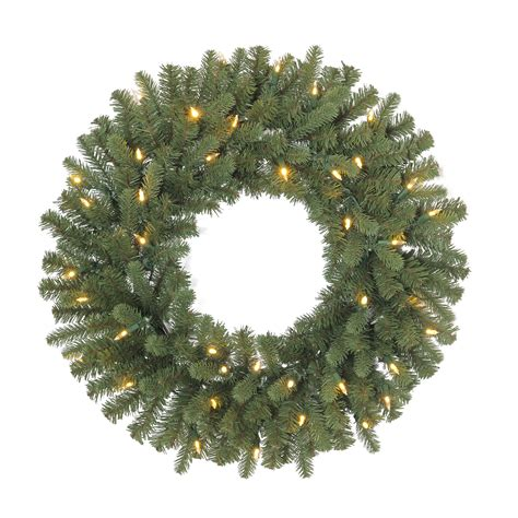 sears outdoor lighted christmas garland 24 quot pre lit sonoma wreath with 40 led clear multi color switch plus lights