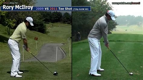 rory mcilroy golf swing slow motion hd slow rory mcilroy 2009 vs 2011 tee shot golf swing