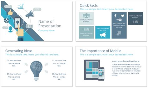 Digital Marketing Powerpoint Template Presentationdeck Com Digital Marketing Presentation Template Free