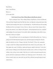 Smoke Signals Essay by Rhetorical Analysis Of A Modest Outline Homework Michalowski